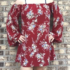 Emory Park Floral Off Shoulder Boho Dress Tunic